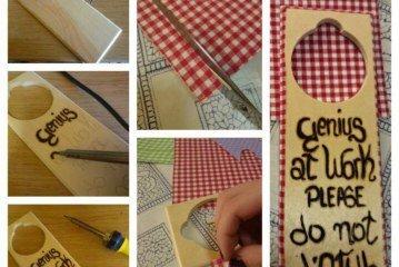 Dalsher – idee: cartello per porta in legno