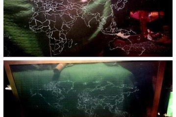 Dalsher - Mappa su vetro dei posti visitati