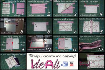 IdeAli -  come attaccare una cerniera e realizzare una bustina porta oggetti