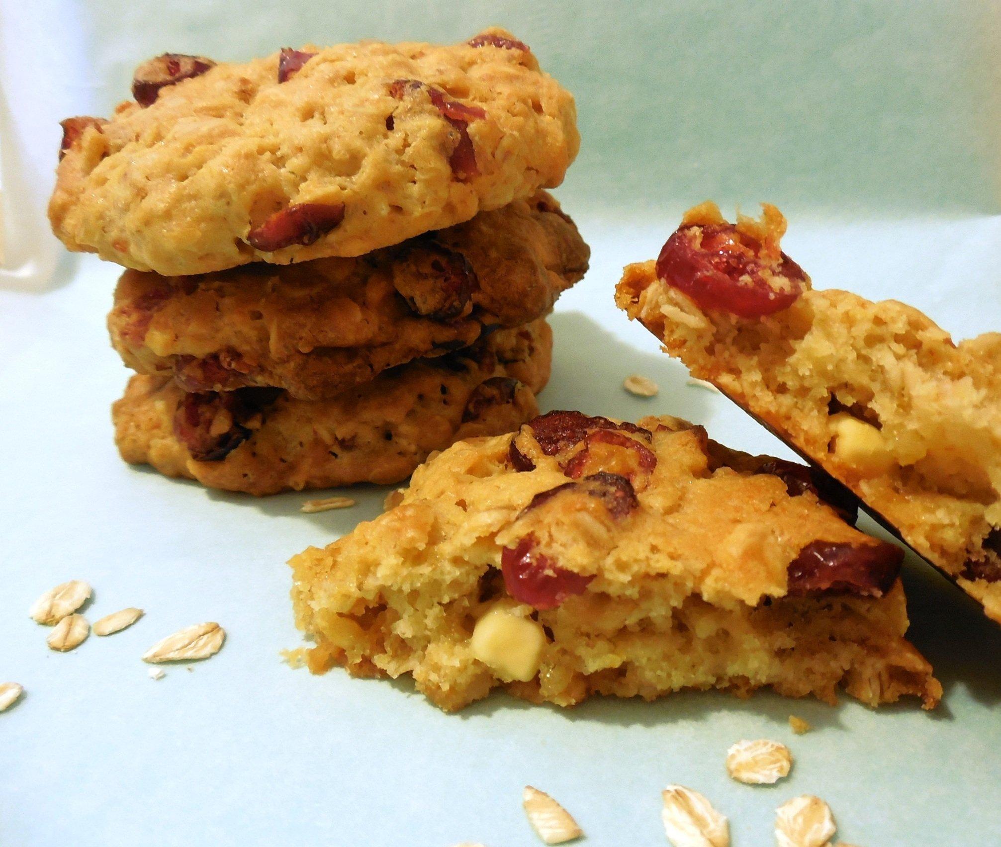Find Flow - Cookies ai mirtilli rossi e cioccolato bianco
