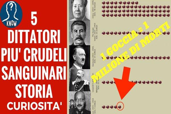I 5 dittatori più crudeli della storia