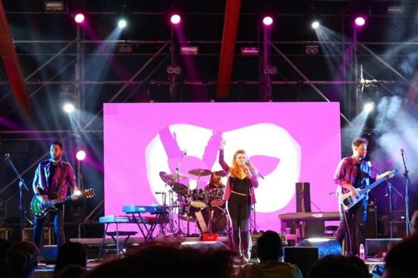 La band fiorentina Violet Blend in apertura ai Garbage a Villa Ada a Roma