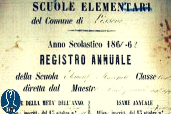 La scuola dal Mediovevo al Novecento