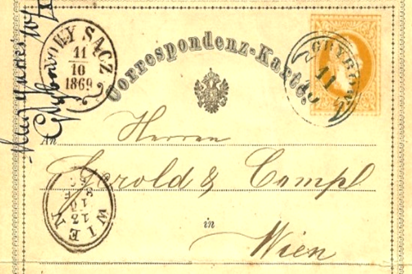 La prima cartolina postale al mondo