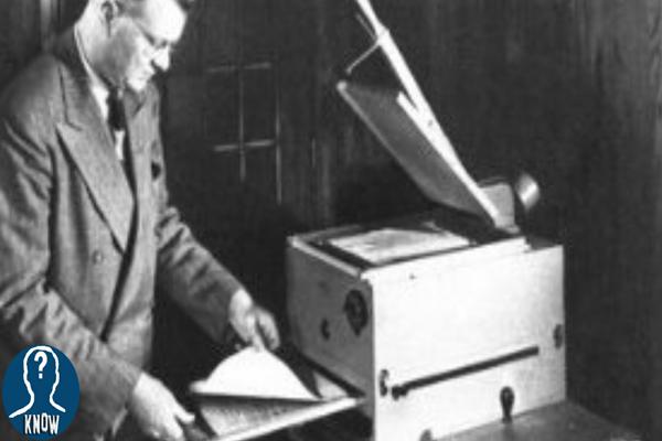 La storia della prima fotocopiatrice