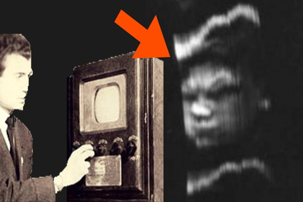 Il primo uomo in TV della storia