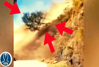 Frane gigantesche riprese in video